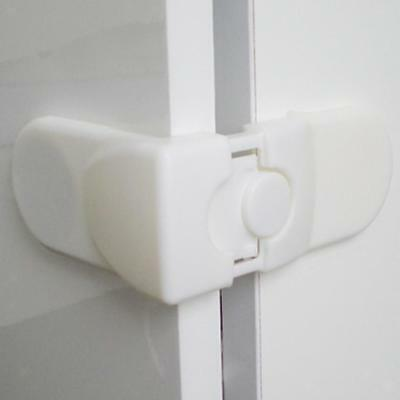 5pcs Baby Safety Cupboard Door Corner Lock Drawer Catches Guard Clips White