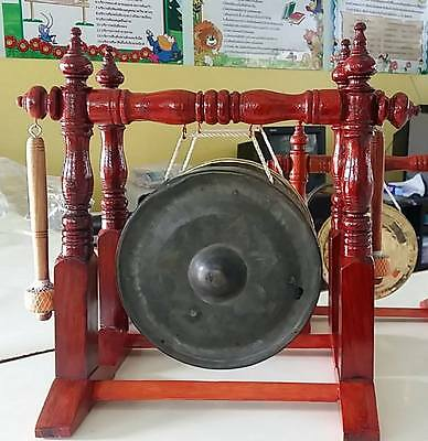 """7"""" 3 pieces Thai Gongs Ancient  (Hand-made Handicrafts from Thailand)"""