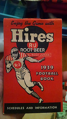 Vintage Hires RJ Root Beer 1939 Football Booklet Schedules and Information 6""