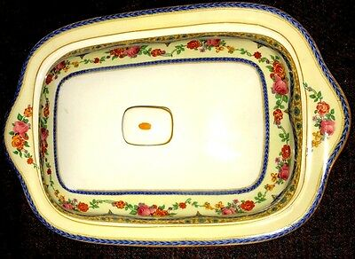 CROWN DUCAL VINTAGE 1920'S  Patent # 72944 Floral BACON LIDDED PLATE