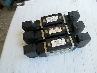 SMC PNUEMATICS - Lot of 3 - 4/5Valves  VFS-3400-5FZ -- 24DC -- 3 Pos Centre Exh