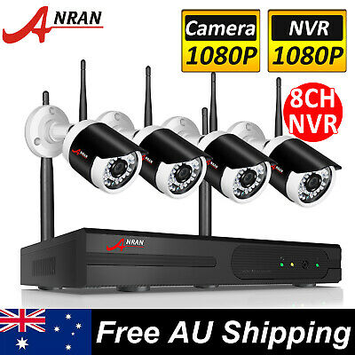 ANRAN 4CH 1080p HD Home Wireless Security Camera System Outdoor 2.0MP NVR System