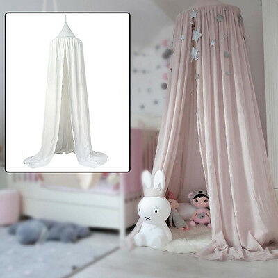 Baby Canopy Bed Crib Netting Mosquito Toddler Bed Net Play Tents Cotton 2 Colors