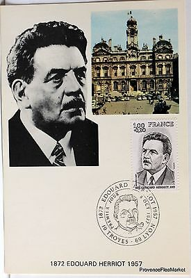Yt 1953 EDOUARD HERRIOT   FRANCE   CARTE MAXIMUM 1° JOUR FCP