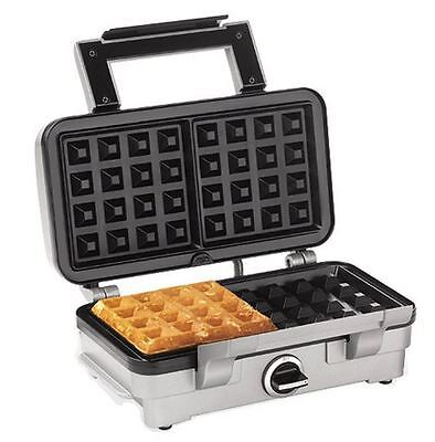 New Cuisinart Waffle Maker Belgian 2 Slice WAF1A Kitchen Cooking Stainless Steel