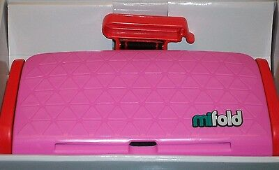 Mifold Grab-and-Go Car Booster Seat, Perfect Pink NEW