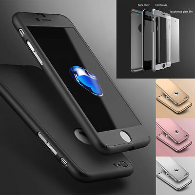Hybrid 360° New Shockproof Case Tempered Glass Cover For Apple iPhone 6/6s Plus