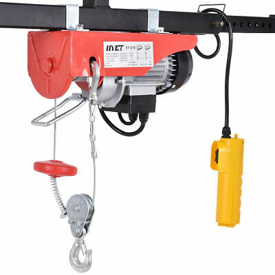 440lbs Mini Electric Wire Hoist Remote Control Garage Auto Shop Overhead Lift