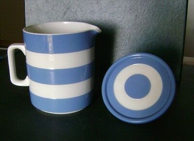 Cornishware jug with lid by T. & G. Green