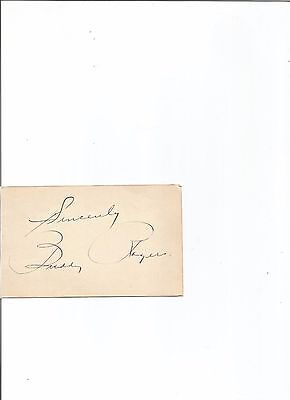 late hollywood actor CHARLES BUDDY ROGERS signed CARD