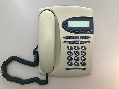 Testra Phone Corded Landline Digital Display Push Button LCD Voice Assistant