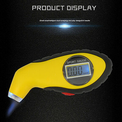 LED Digital Car Motorcycle Tire Tyre Air Pressure Gauge Tester Tool For Auto