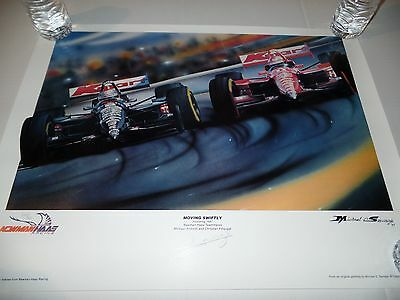 Newman Hass Racing - Michael D. Savage signed & numbered Lithograph