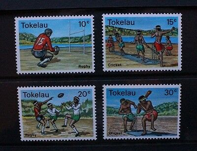 TOKELAU 1979 Sport Cricket Rugby. Set of 4. Mint Never Hinged. SG69/72.