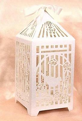 Wedding Wishing Well Engagements Bird Cage Card Holder In White - So Sweet