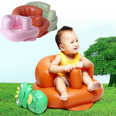 Baby Kids Sofa Inflatable Portable Learn Training Bath Dining Chair Safety Seat