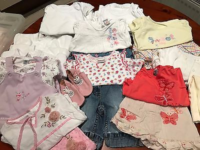 3-6 months baby girl's clothes bundle (all top labels)