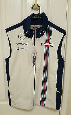 Williams Martini Racing Formula 1 One Gilet Vest BNWT Small