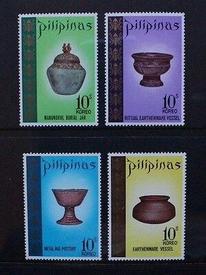 PHILIPPINES 1972 Archaeological Discoveries Set of 4 Mint Never Hinged SG1277/80