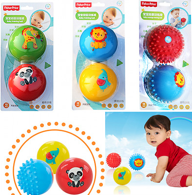 Fisher Price 1 set of 2 Baby Kid Squeeze Massage Strength Training Ball Toys