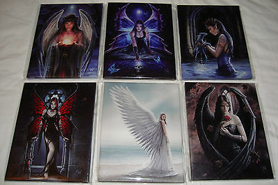 Set of Six Fantasy Gothic Art Canvas Wall Plaques~By  Anne Stokes~uk seller