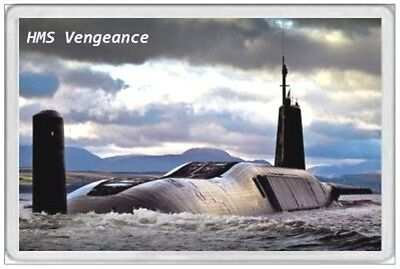 Hms Vengeance - Jumbo Fridge Magnet - Royal Navy Ship Janes Naval Ballistic