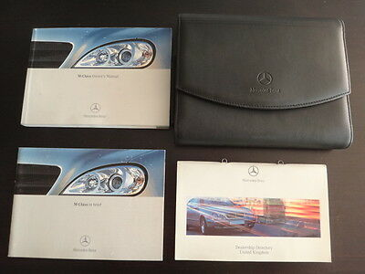 Mercedes M-Class W163 Facelift Owners Manual Handbook Pack & Wallet-2002-2005