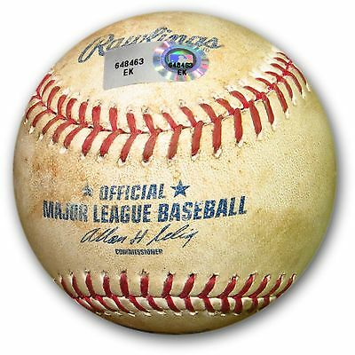 Clayton Kershaw Game Used Baseball 6/2/14 Dodgers Beckham Foul White Sx EK648463