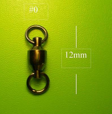 50x DFS BALL BEARING SWIVELS SIZE # 0 TEST 15KG lures lure