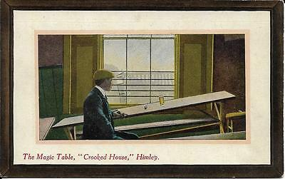 Old Postcard The Magic Table Crooked House Himley Staffordshire