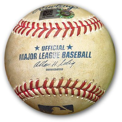 Clayton Kershaw Game Used Baseball 7/31/14 - Foul Ball vs Braves Gattis HZ162220