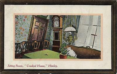 Old Postcard Sitting Room Crooked House Himley Staffordshire