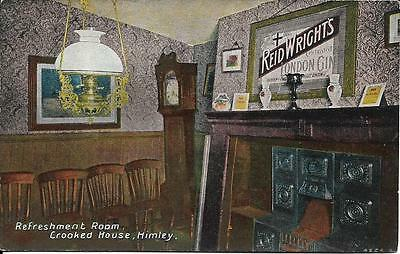 Old Postcard Refreshment Room Crooked House Himley Staffordshire