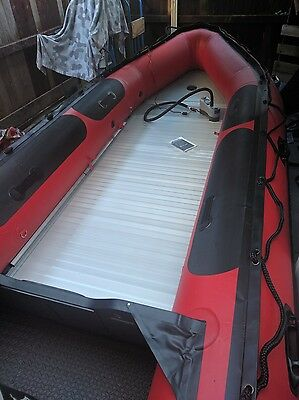 Mercury 415 HD Inflatable Boat with Launch trolley.
