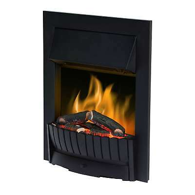 Dimplex CMT20 2000W 2 Settings Clement Electric Flame Effect Fire in Black