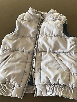 boys cotton in size 4 padded zip up vest