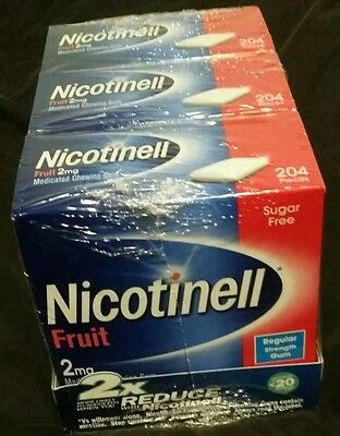 nicotinell gum 2mg 3 x 204 pieces