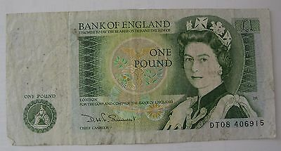 Peter Cushing Signed One Pound Note.