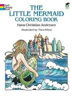 The Little Mermaid Coloring Book by Hans Christian Andersen Paperback Book (Engl