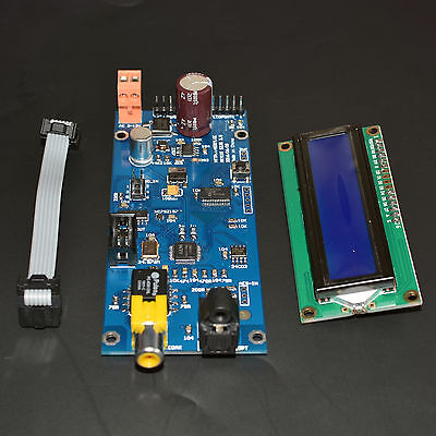 AK4118 digital receiver board SPDIF to I2S with LCD Sampling Rate display