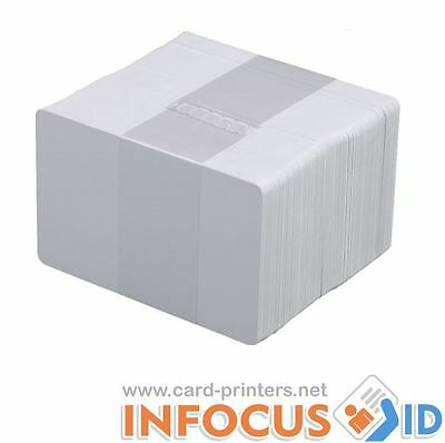 100 x Blank White PVC Plastic Cards CR-80 30mil for all ID Printers