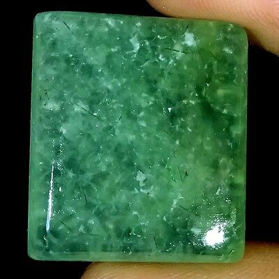~UNTREATED~ 46.05 CTs NATURAL AFRICAN Prehnite OCTAGON CABOCHON LOOSE GEMSTONE
