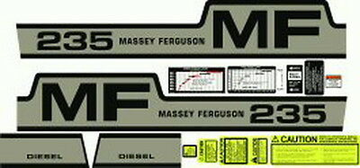 New 235 Massey Ferguson Tractor Complete Decal Set Diesel High Quality Decals
