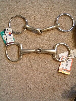 2 NEW with Tags Herm Sprenger Bits 5 & 5 1/4""