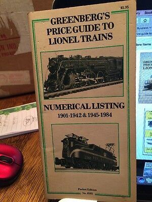 Greenberg's Price Guide To Lionel Trains. 1901-1942 & 1945-1984. #6565