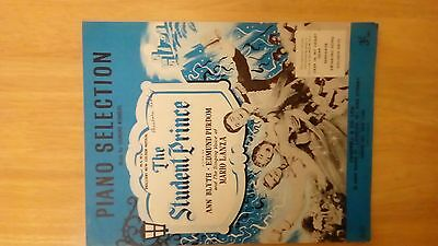 Sheet music piano the student prince