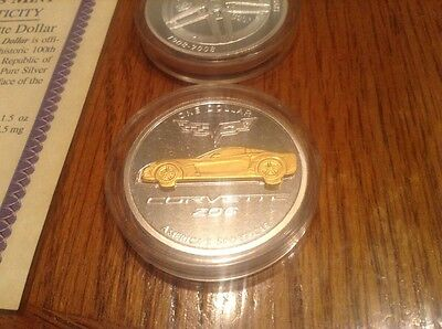 2008 silver and gold corvette coins.