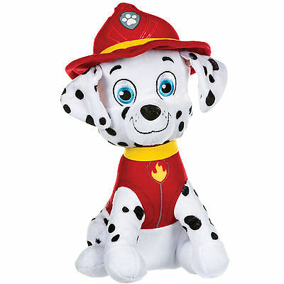 "New Official 12"" Paw Patrol Sitting Marshall Pup Plush Soft Toy Nickelodeon Dogs"