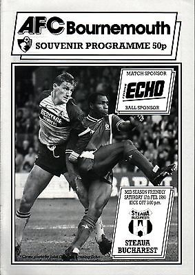 1989/90 Bournemouth v Steaua Bucharest, friendly - PERFECT CONDITION