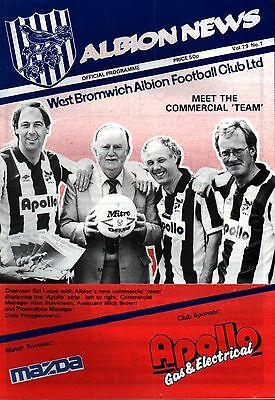1987/88 West Bromwich Albion v SC Mazda (Japan), PERFECT CONDITION